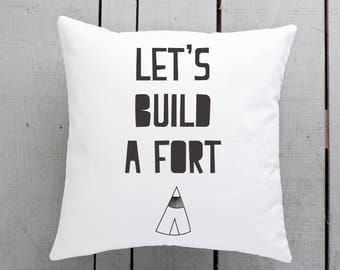 nordic pillow, nordic throw cushion, scandi pillow, scandi cushion, lets build a fort
