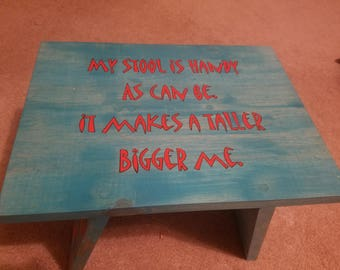 Hand-Made, Painted Toddler Stool
