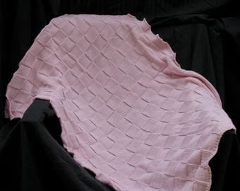 Blanket Damier Alpaca and Mulberry Silk