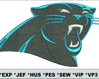 Carolina Panthers  embroidery / embroidery designs logo / Sports logo embroidery design / American football