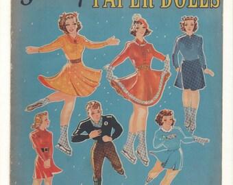 Vintage Forties Paper Doll Skating Book