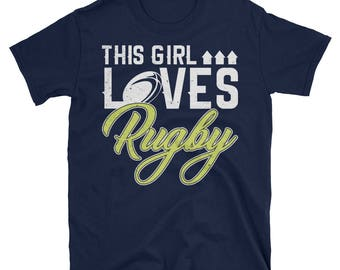 This Girl Loves Rugby - Rugby Tshirt- Rugby T-Shirt - Rugby Shirt- Rugby Girl - Rugby Lover - Rugby Tee - Rugby Mom