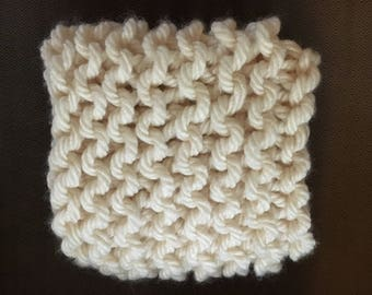 Chunky Knit Cowl Aran