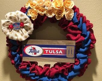 University of Tulsa, Tulsa Universiy School Spirit Heart Wreath