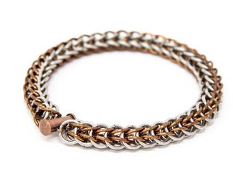 Full Persian chainmail bracelet with clasp