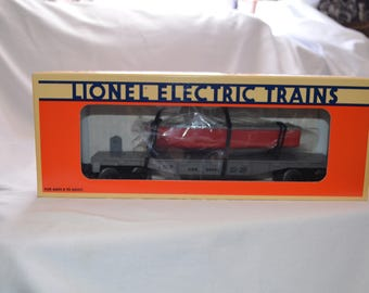 Lionel Trains 6-16939 United States Navy Flatcar With Boat New Condition
