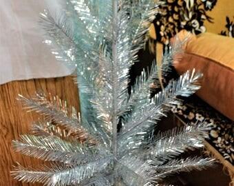 Silver Christmas Tree Vintage Ukraine 120 cm