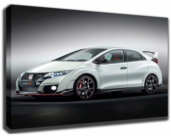 HONDA CIVIC Type R Canvas/Poster Wall Art Pin Up HD Gallery Wrap Room Decor