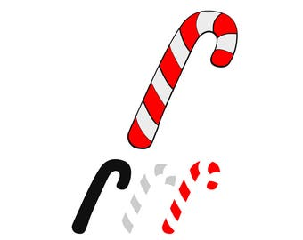 Christmas Candy Cane SVG Design Cutting File also includes PNG - for Cricut Design Space and Silhouette Studio - Commercial use