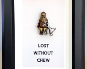 Lego Star Wars Lego minifigures Chewbecca for daddy husband birthday anniversary gift inspired by LEGO