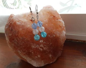 Blue beads earring
