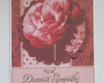 Flowered Sympathy Card