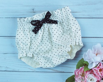 Polka Dot Baby Bloomers, bloomers, baby clothes, baby girl clothes, baby boy clothes, baby boy shorts, baby girl shorts, baby shower gift