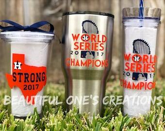 Astros World Series Tumbler/ Astros Custom Tumbler Cup/ Houston Strong Tumbler/ Astros Yeti/ Houston Astros 2017