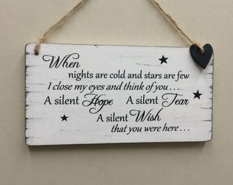 Shabby Chic Thinking Of You Missing You Words Of Love Sign plaque