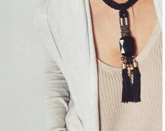Black Widow Statement Necklace