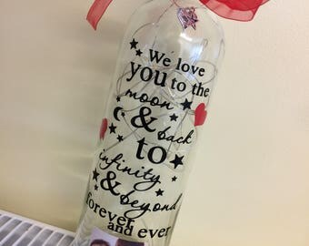 Love you light up bottle
