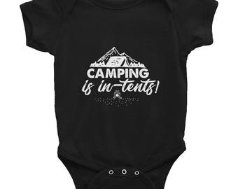 Camping is In-Tents Infant Bodysuit
