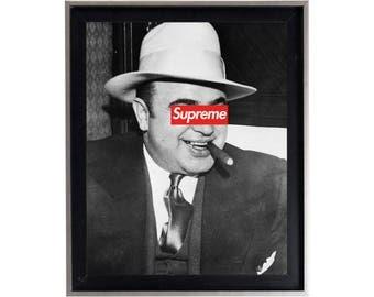 Supreme x Al Capone Poster or Art Print