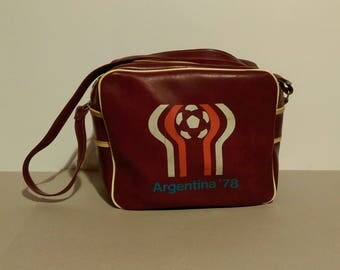 Vintage  Leather Sports Bag/Argentina 78/70s Brown Bag