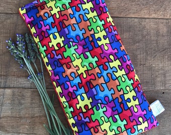 Autism Awareness - Sensory Bean Bags Toy - SPD - Eye Pillow - Tactile - Boo Boo Bag - Microwave Heating Pad - Cold Pack - Autism Gift
