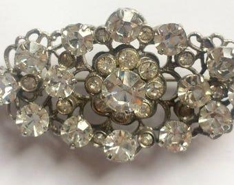 Stunning vintage rhinestone flower brooch, retro jewellery, 1950's jewellery, 1950's jewelry