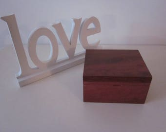 Small Handcrafted Wooden Jewellery Box / Trinket Box / Gift Box