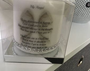 Our belove angel candle