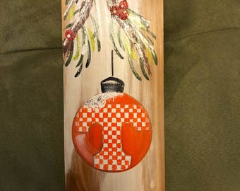 University of Tennessee Wooden Christmas Sign!
