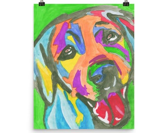 Rainbow Dog - Beautiful Archival Cotton Rag Fine Art Giclée Print Supporting the Nonprofit Fresh Artists