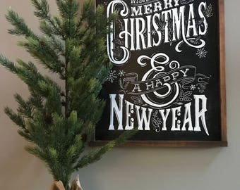 Two-Sided Merry Christmas/Gather Sign