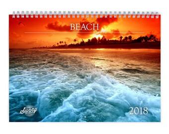 Beach 2018 Wall Calendar