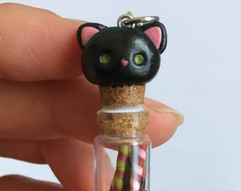 Black Cat Candy Bottle