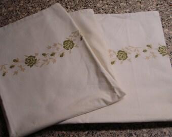 Vintage pillowcase, Cross Stitch