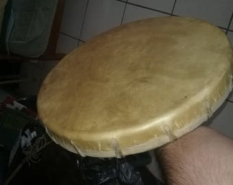 Traditional Buffalo Skin Drum Native American - New