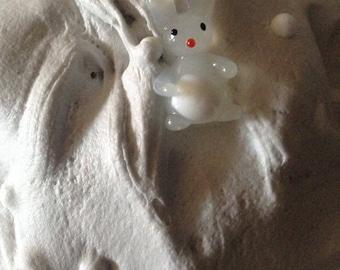 Bunny snowball fight