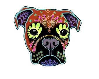 Boxer Dog Printable Vinyl Decal, Laptop, Window, Car