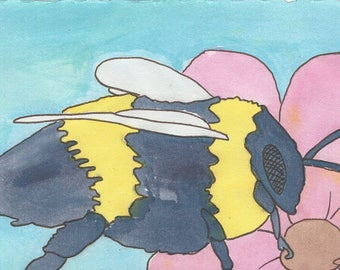 Christmas Gift Vespa Finds Nectar A5 Painting Print