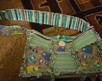 Rag Quilt Diaper Bag