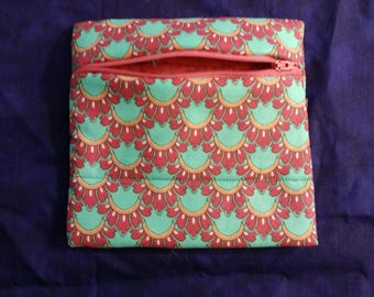 Pink and turquoise shells bag