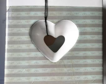 Heart Relief Vase with Contemporary Decoration