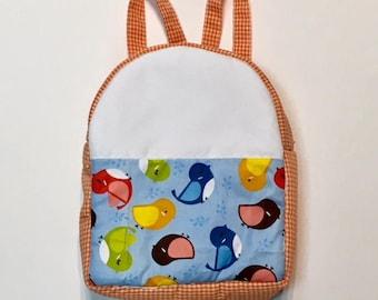 Backpack fabric Vichy Orange