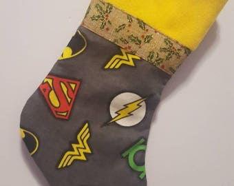 DC Justice league/ superman/batman/ wonder woman/ flash/ aquaman/ christmas/ stockings/ dc comics/ Justice league