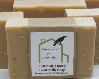 Oatmeal. Milk and Honey Goat Milk Soap