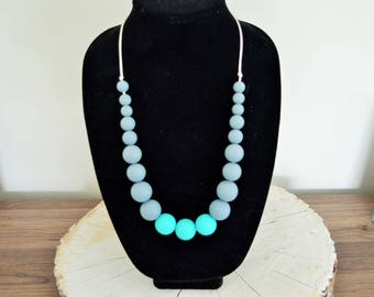 Nursing Necklace | Teething Necklace | Fidget Necklace | Teething Jewelry | Chew Beads | Teething Accessories | Shower Gift | Handmade