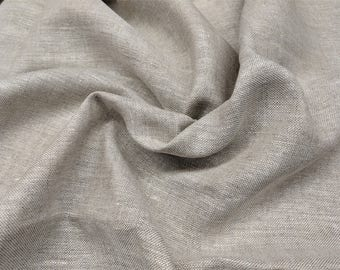 "100% Linen Vintage Upholstery Quality 2 1/2 Yards 54"" Wide Crewel Fabric Heavy and Sturdy"