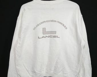Vintage Lancel paris champs-elysees sweatshirt