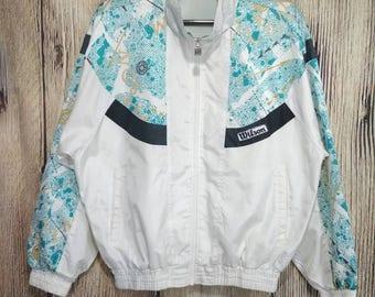 Vintage Wilson windbreaker sweater full zip