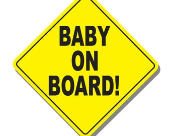 BABY ON BOARD Safety First Sticker Decal for car