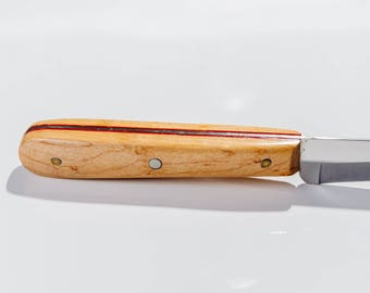 Speckled Maple table knife